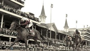 Orb finishes hard in the mud to win the 2013 Kentucky Derby