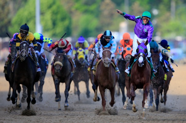 California Chrome wins the 140th running of the Kentucky Derby.  Recent history shows he has a good chance of winning again in the Preakness!