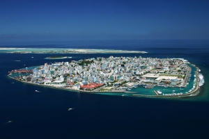Click for larger image of Malé, capital of the Republic of Maldives