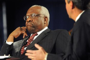 US Supreme Court Justice Clarence Thomas doesn't speak in court