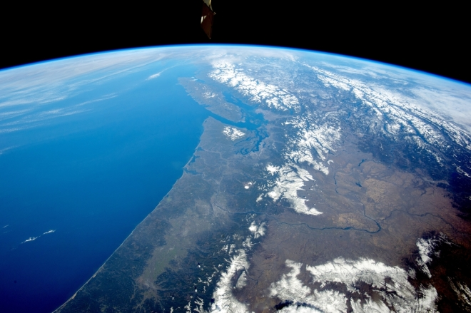 Pacific Northwest from space